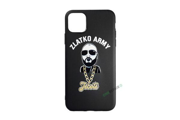 Sort Zlatko Army cover til iPhone 11 Pro Max