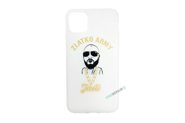 Hvid Zlatko Army cover til iPhone 11 Pro Max