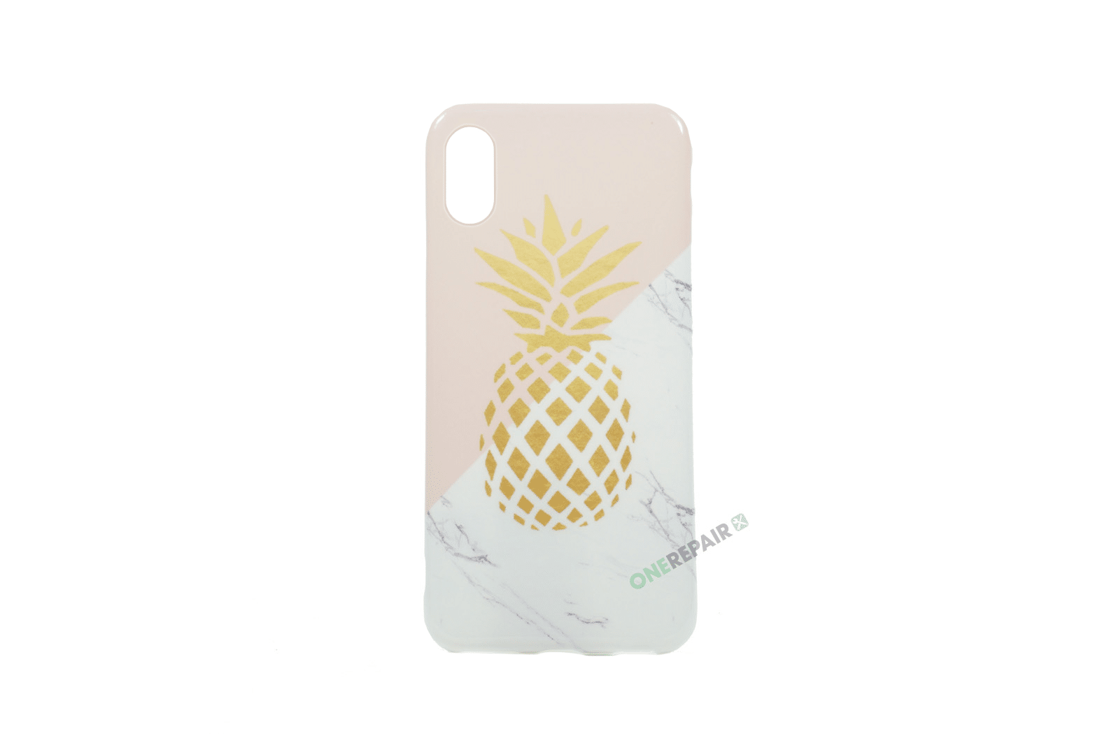 351966_iPhone_X_XS_Gummicover_Ananas_Moenster_Cover_Lyseroed_Guld_Marmor_OneRepair_00001