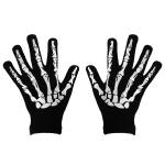 Skelet handsker i tyndt tætsiddende stof