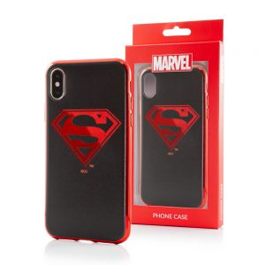 Superman Chrome Logo til iPhone X og iPhone XS