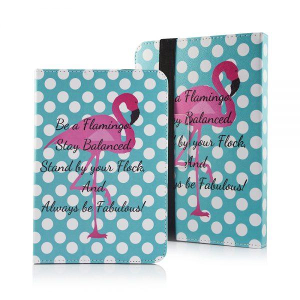 """Flamingo med prikker Tablet cover til tablets med en størrelse på 9"""" til 10"""""""