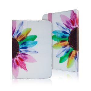 """Solsikke med regnbue Tablet cover til tablets med en størrelse på 9"""" til 10"""""""